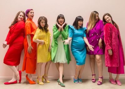 Group of Colourful ladies